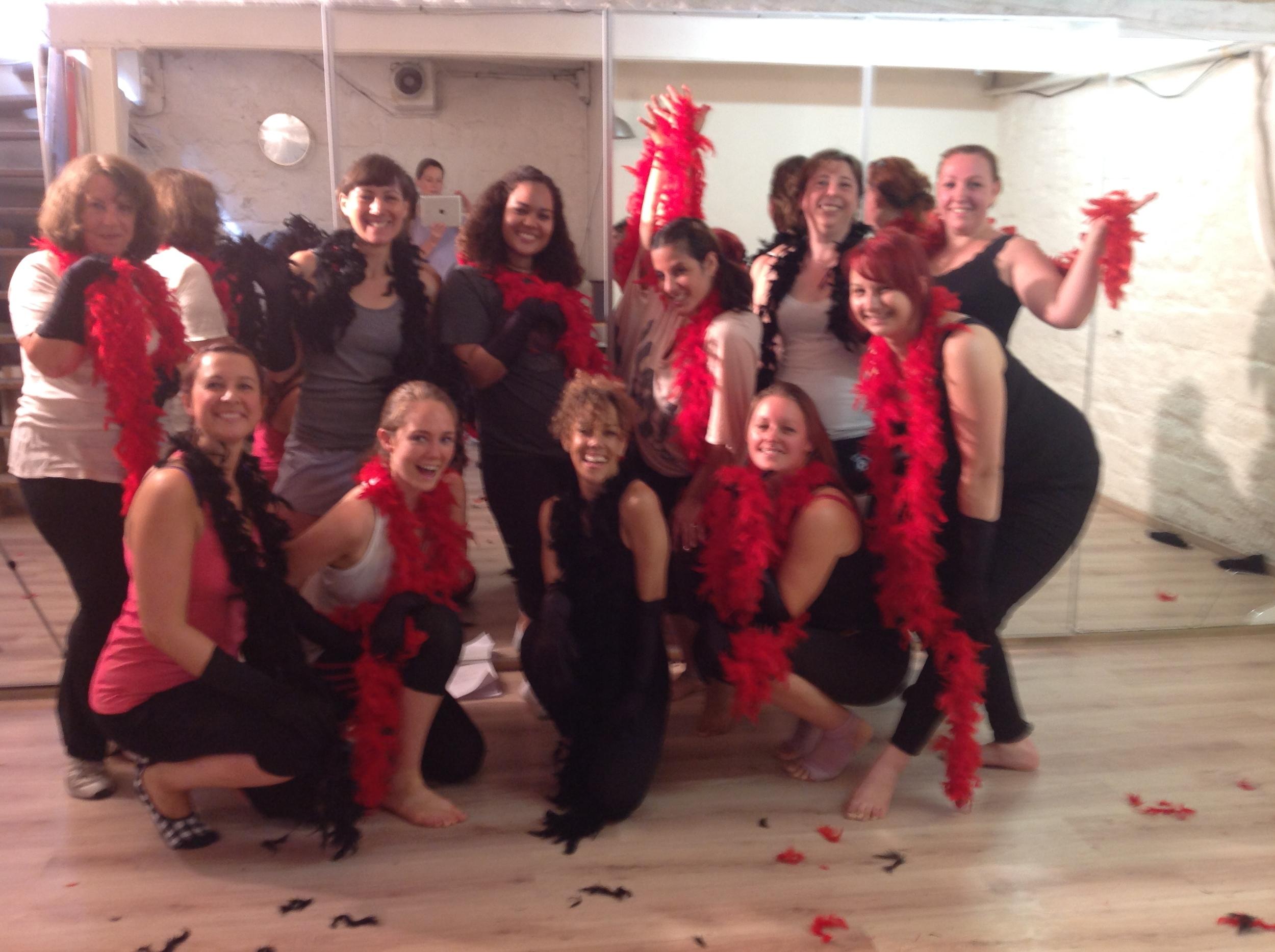 Burlesque Fitness post class