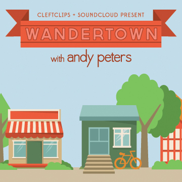 WANDERTOWN   On-the-ground comedic reporting from anywhere with fearless host, Andy Peters. No attendee, comedian or innocent bystander is safe from the portable recording power of Andy's studio on the go (just his cell phone, guys).  It's Wandertown.  Get Lost.