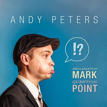 "EXCLAMATION MARK QUESTION POINT    Exclamation Mark Question Point is the debut album from Andy Peters.    More bootleg than traditional stand-up album, Andy recorded only one show, one night at The Virgil in Los Angeles. The album features a bouncy mix of Andy's dive-in-head-first approach to comedy. With The Virgil's intimate space as a backdrop, Andy litters the show with playful self-deprecating bits, a healthy dose of ""screaming at strangers"" and a nonstop stream of riffs."