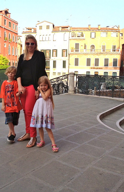 The minis and I in Venice 2012