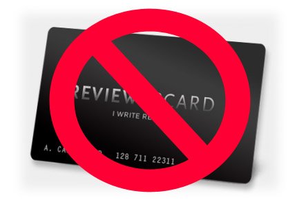 We Do NOT Accept the ReviewerCard