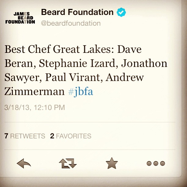 Love seeing the Chef's name!!