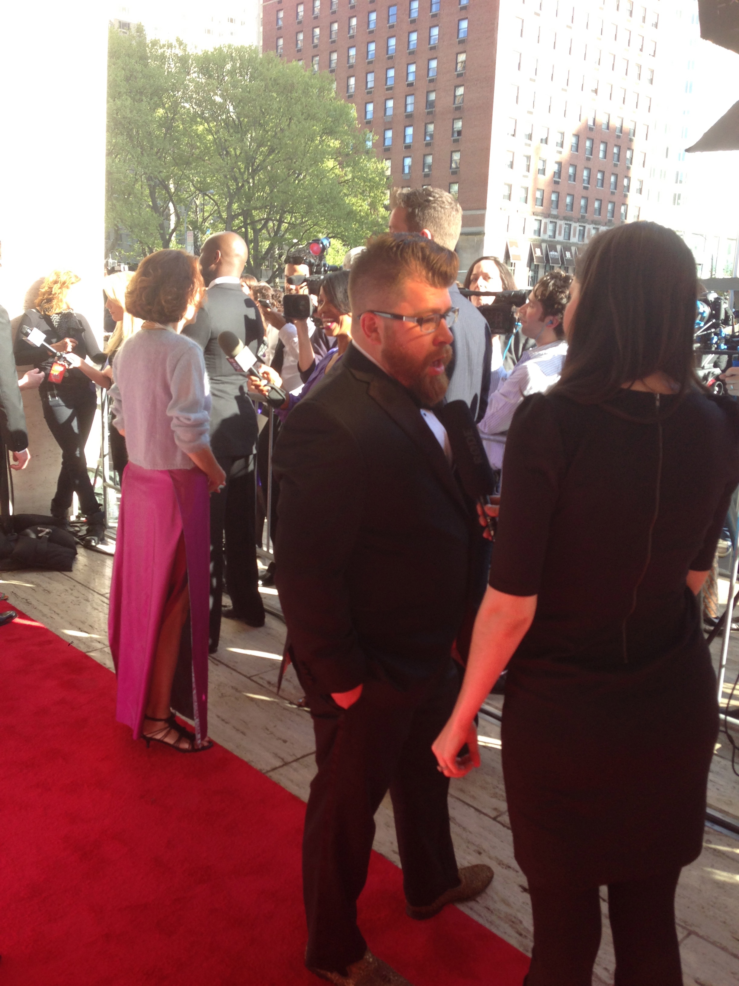 red carpet with chef sawyer