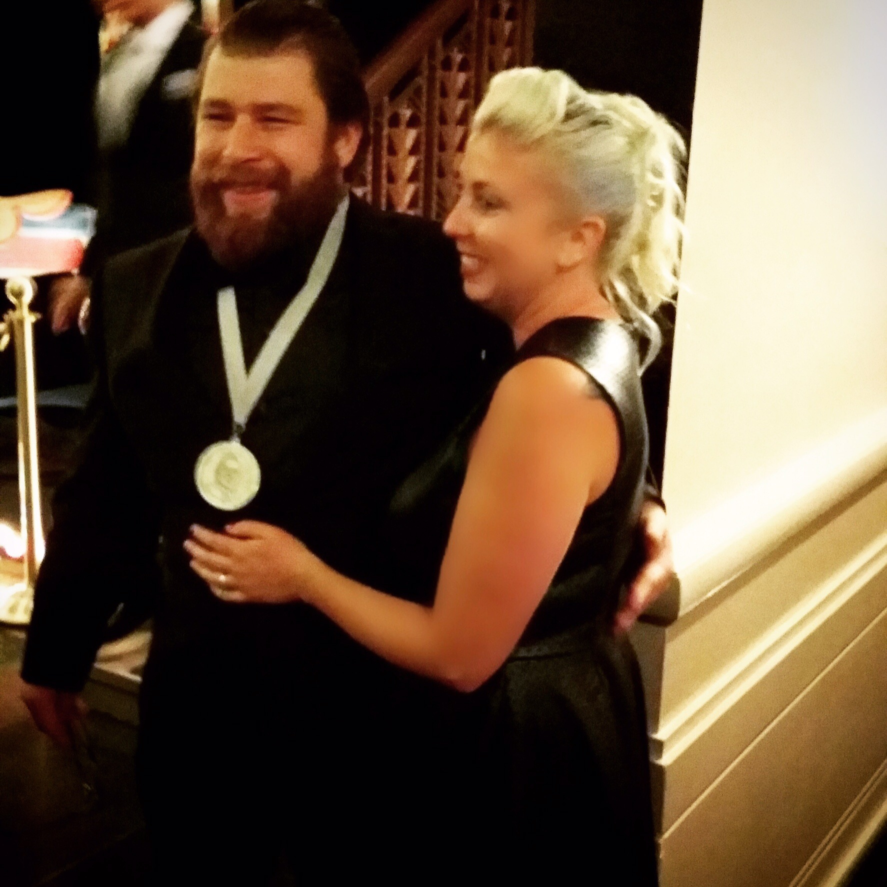 The Chef and I moments after he won the James Beard Award for Best Chef: Great Lakes