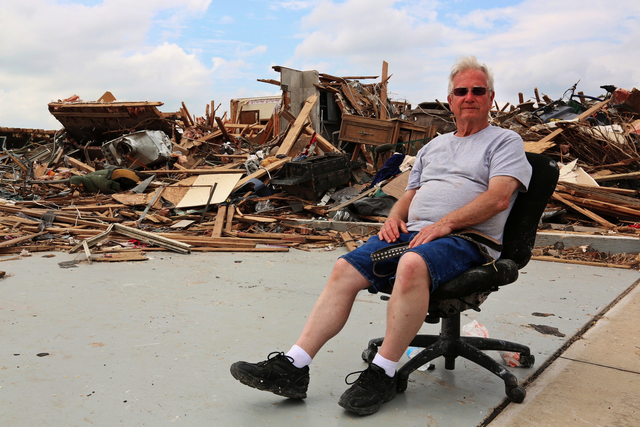 Robert Jones, of Oklahoma City, road out the tornado in his home.
