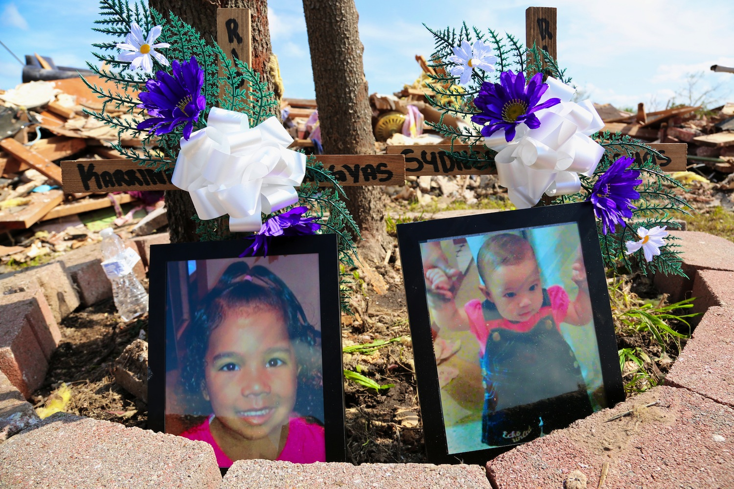 Four-year-old Karrina Vargyas, and her sister Sydnee, 7 months, died after the tornado leveled their home in the Westmoore edition in Oklahoma City.