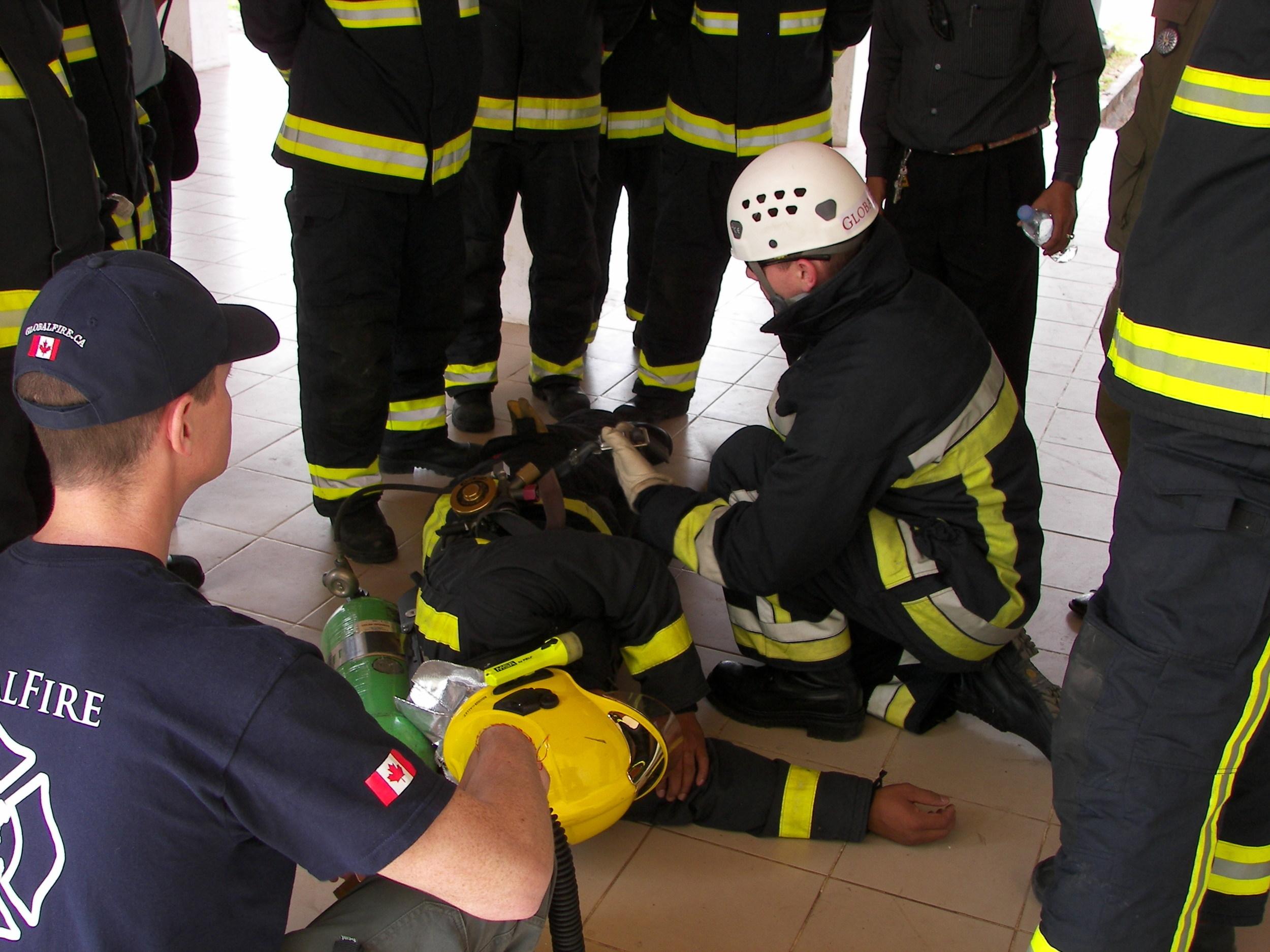 Teaching injured firefighter rescue.jpg