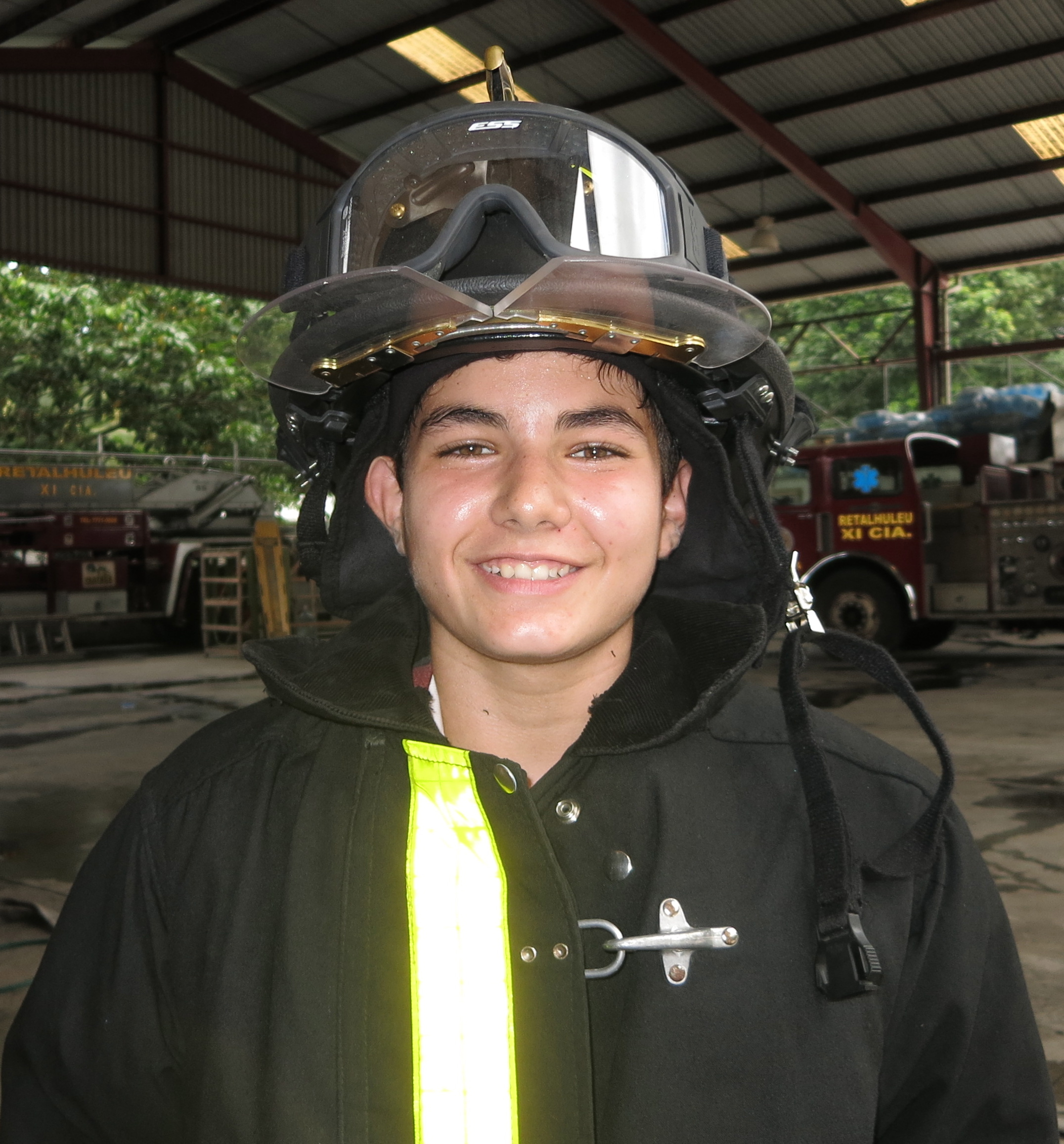 José Javier Quevedo Fernández, 14 years old, one year as a volunteer, he's in college studying medicine