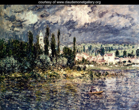 Landscape with Thunderstorm by Claude Oscar Monet