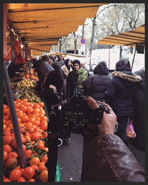 PHONE LIBRARY | Exploring Paris markets in a cold morning. I'm trying any kinds of interesting food that I can find and I'm stealing so many shots in here. Love it.