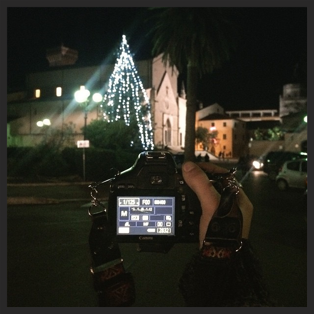 Walking around Orbetello at night.  17|12|2014