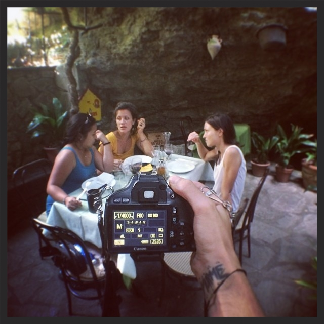Eating in a cave with the gang.  12|08|2014