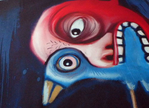 Red Heads & Blue Birds  - Painting Series