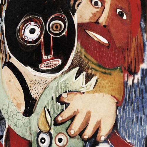 Owl Wrestling - Painting Series