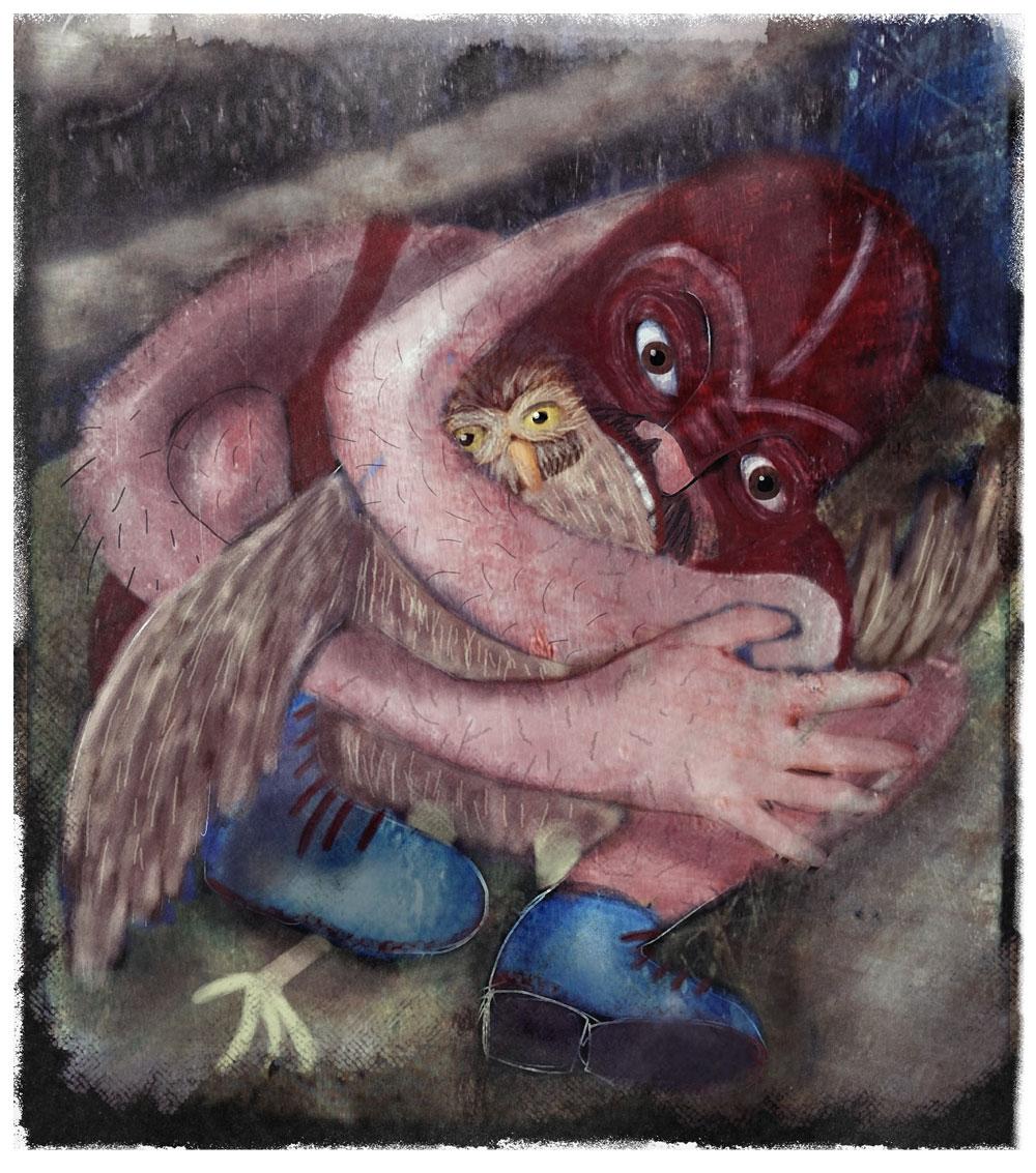 Owl in a Headlock
