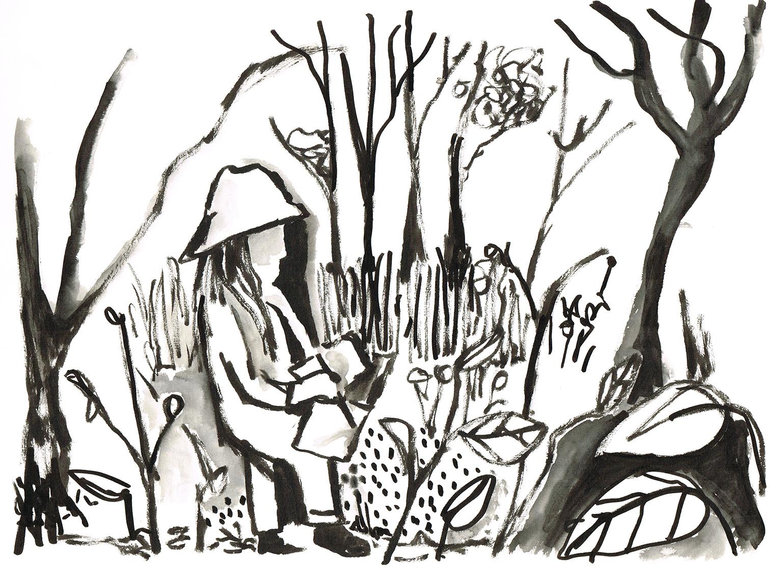 Anna Sketching again