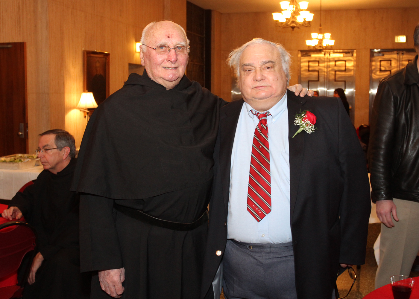 Chicago, IL:  Ed Schmit  (right) , affiliated to Augustinian Order in February, alongside rev. Ed Andrews, O.S.A.