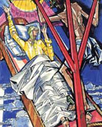 Illustration of Ann Catherine Emmerich by János Hajnalin Il fascino di Dio: Profili de agiografia agostiniana by Fernando Rojo Martínez, O.S.A. Copyright © 2000 Pubblicazioni Agostiniane Rome. Used with permission. Original art preserved in the Office of Augustinian Postulator of Causes, Rome