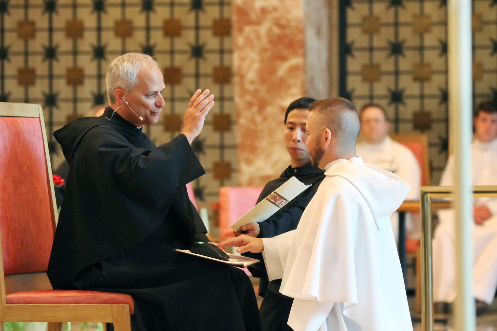 Brother Joe Ruiz, O.S.A. professes his first vows as an Augustinian in August, 2013