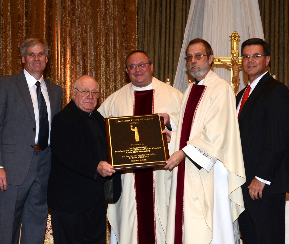 The Augustinian Community of Cascia Hall received the Saint Clare of Assisi Award from the Diocese of Tulsa in 2012