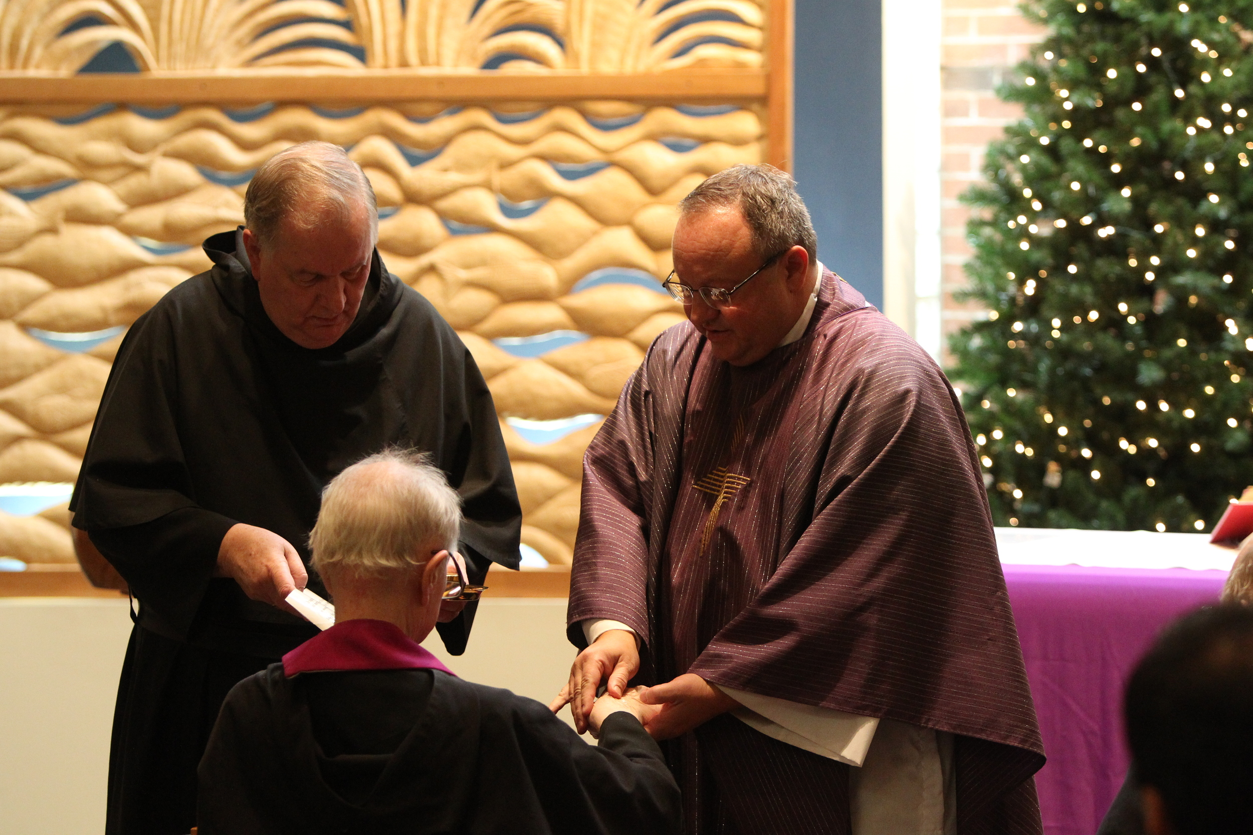 Fr. Bernie Scianna, O.S.A., visits our retired Augustinians each month
