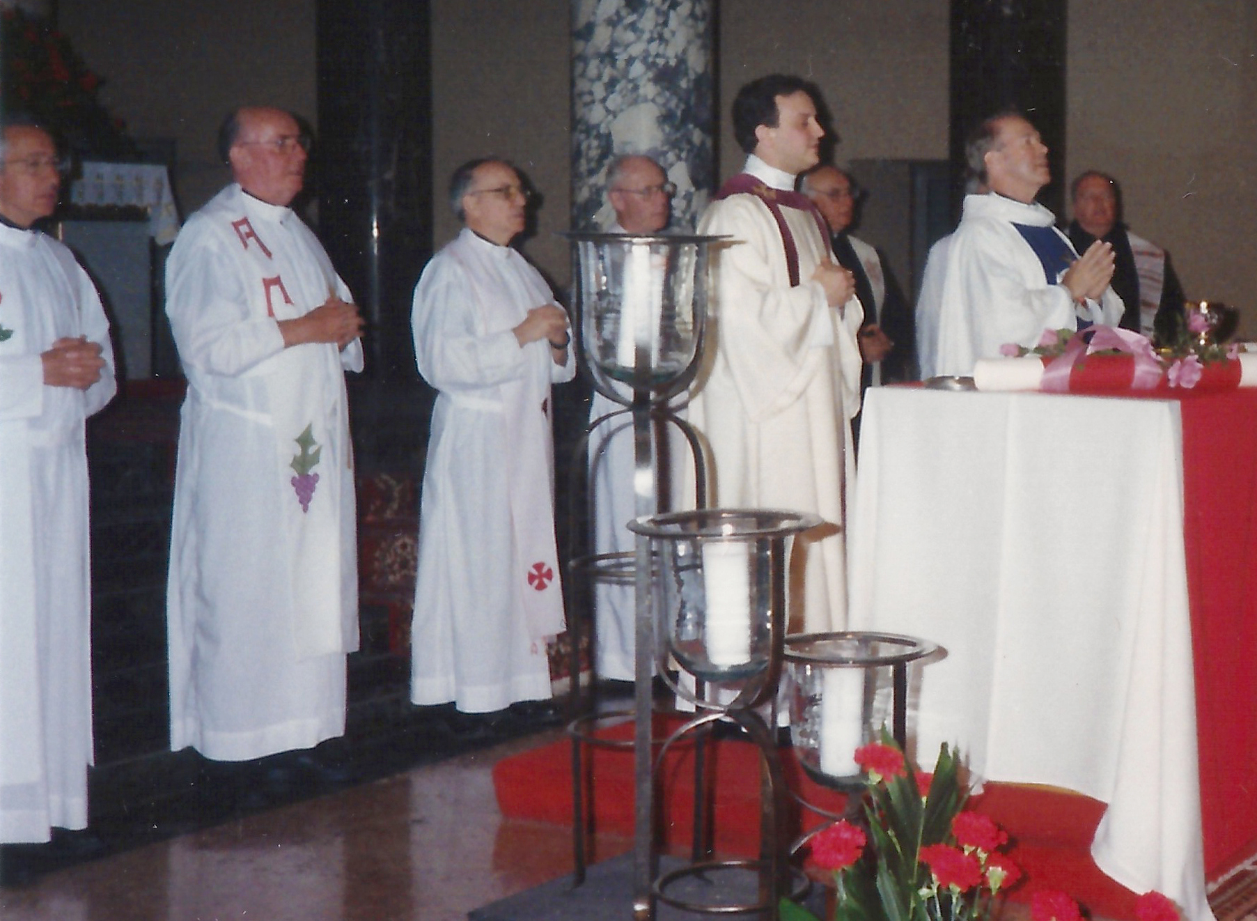 Fr. David L. Brecht, O.S.A., pictured here celebrates Mass at St. Rita Parish in Chicago during his time as Provincial.