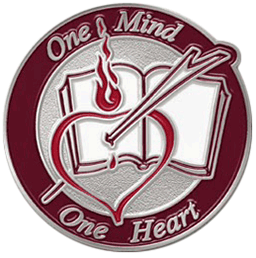 one mind one heart pin
