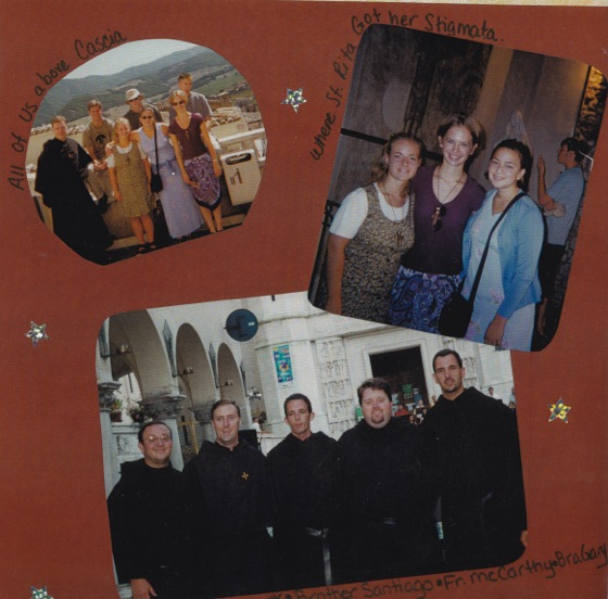Scrapbook page from our trip to Rome