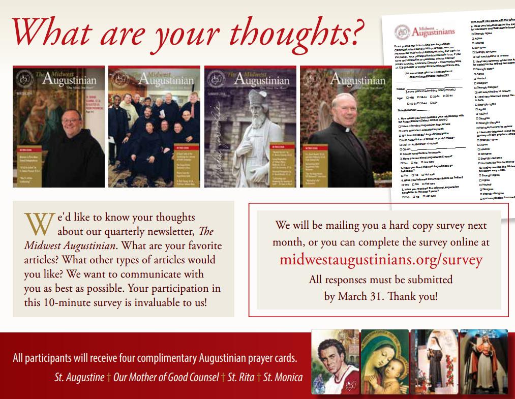 Augustinian Communications Survey