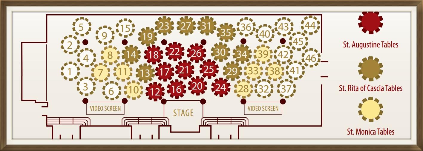 Augustinian Gala seating chart