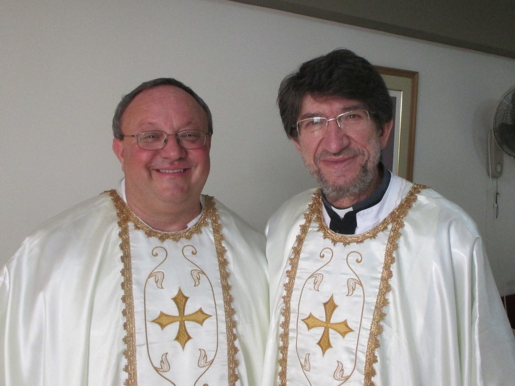 The Most Rev. Alejandro Moral Antón, O.S.A., Prior General of the Augustinian Order (left); with the Very Rev. Bernard C. Scianna, O.S.A., Ph.D., Prior Provincial of the Midwest Augustinians