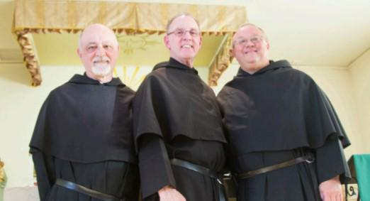 Fr. Michael DiGregorio, OSA (left); Fr. Kevin Mullins, OSA (Center);and Fr. Bernie Scianna, OSA currently lead the Federation of Augustinians of NOrth America