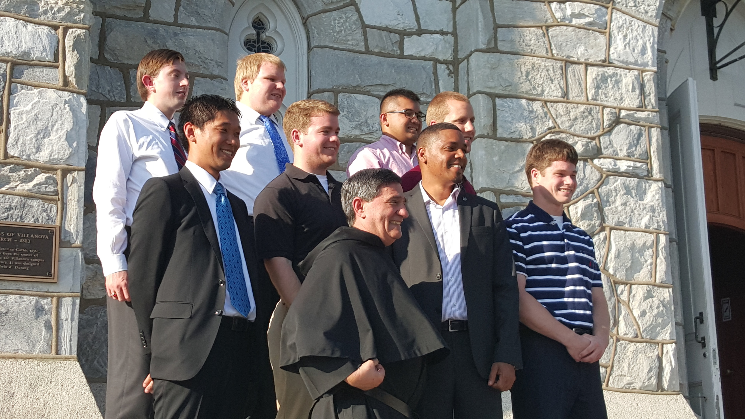 VILLANOVA, PA - These are eight of the 12 men that will become the new 2015-2016 class of Novices