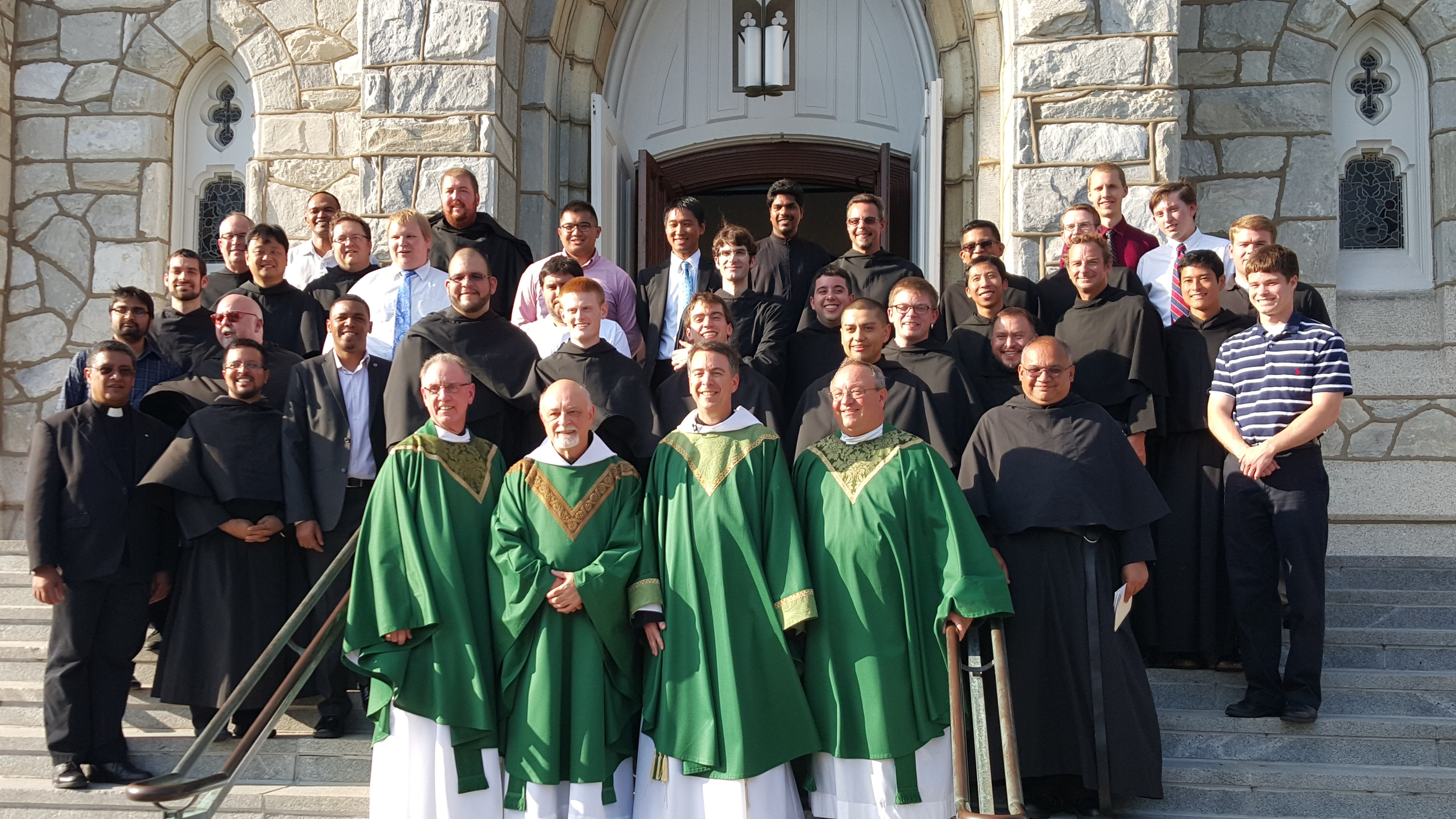 VILLANOVA, PA - The men in Augustinian formation attended the August 1 festivities.  The Augustinians presently have 41 men in formation!