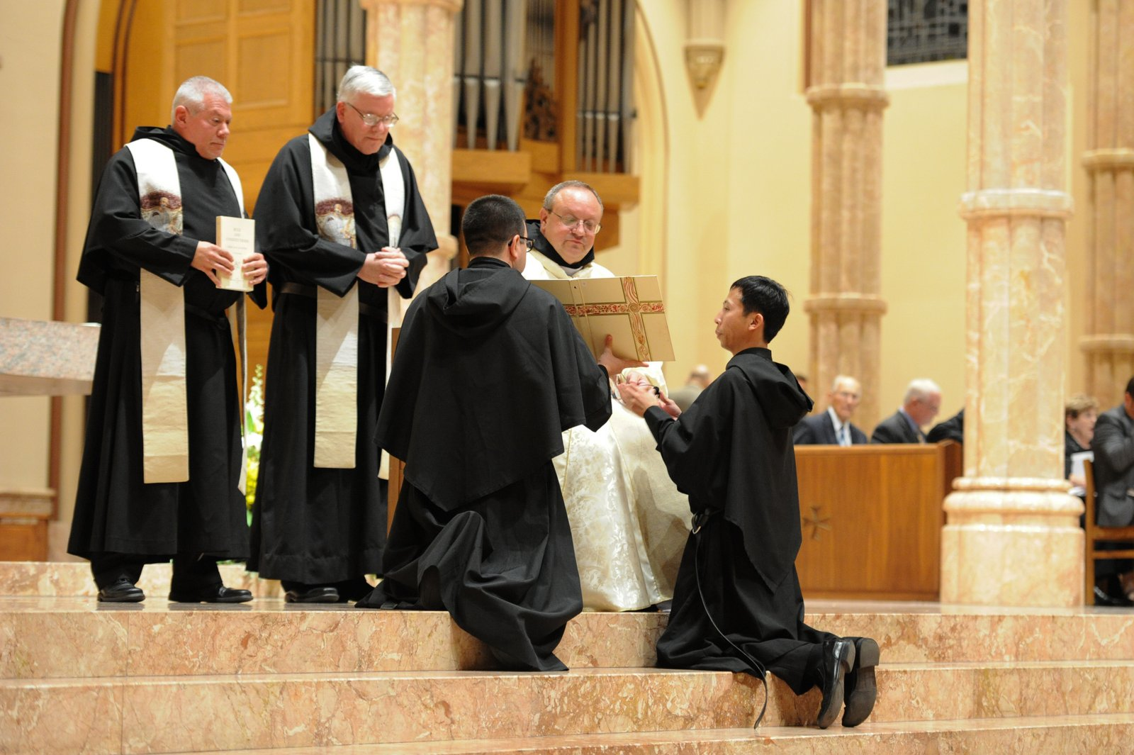 Brother Richie Mercado, O.S.A., professed his solemn vows in the Augustinian Order at Holy Name Catehdral on August 27, 2015