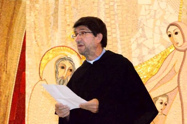 Fr. Alejandro Moral Antón, O.S.A., the worldwide leader of Augustinians, reads his letter convoking November 16 as the Augustinian Day of Prayer for Refugees