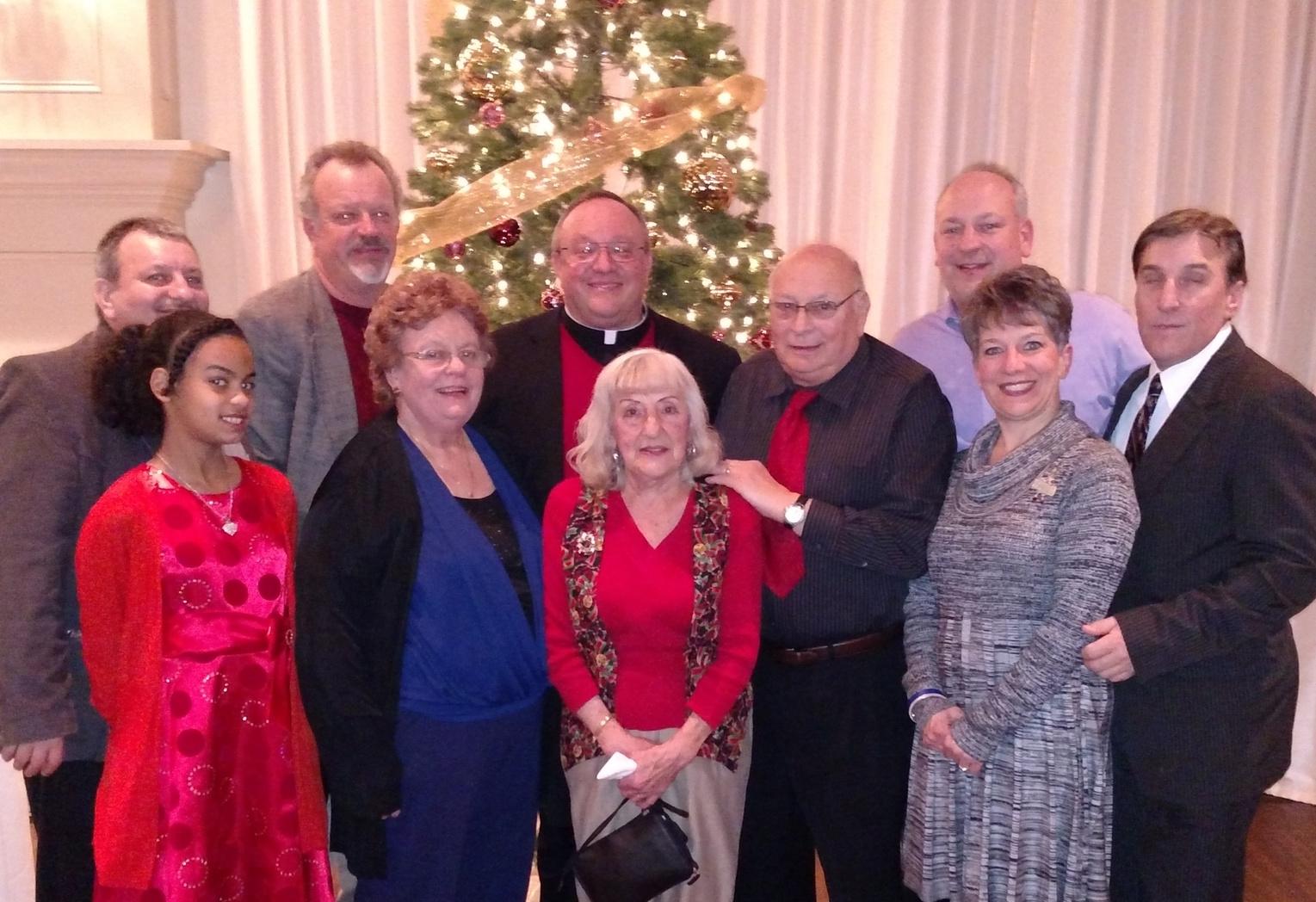 Prior Provincial, Father Bernie Scianna, O.S.A., with the Scianna Family
