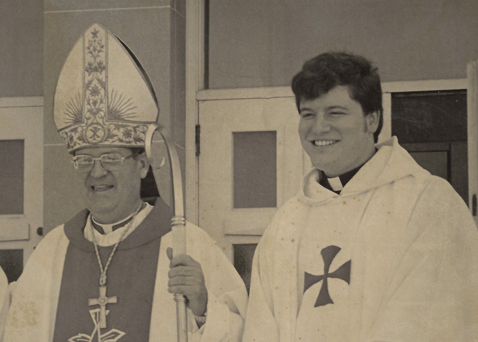 Father Slattery following his ordination by Bishop John McNabb, O.S.A.