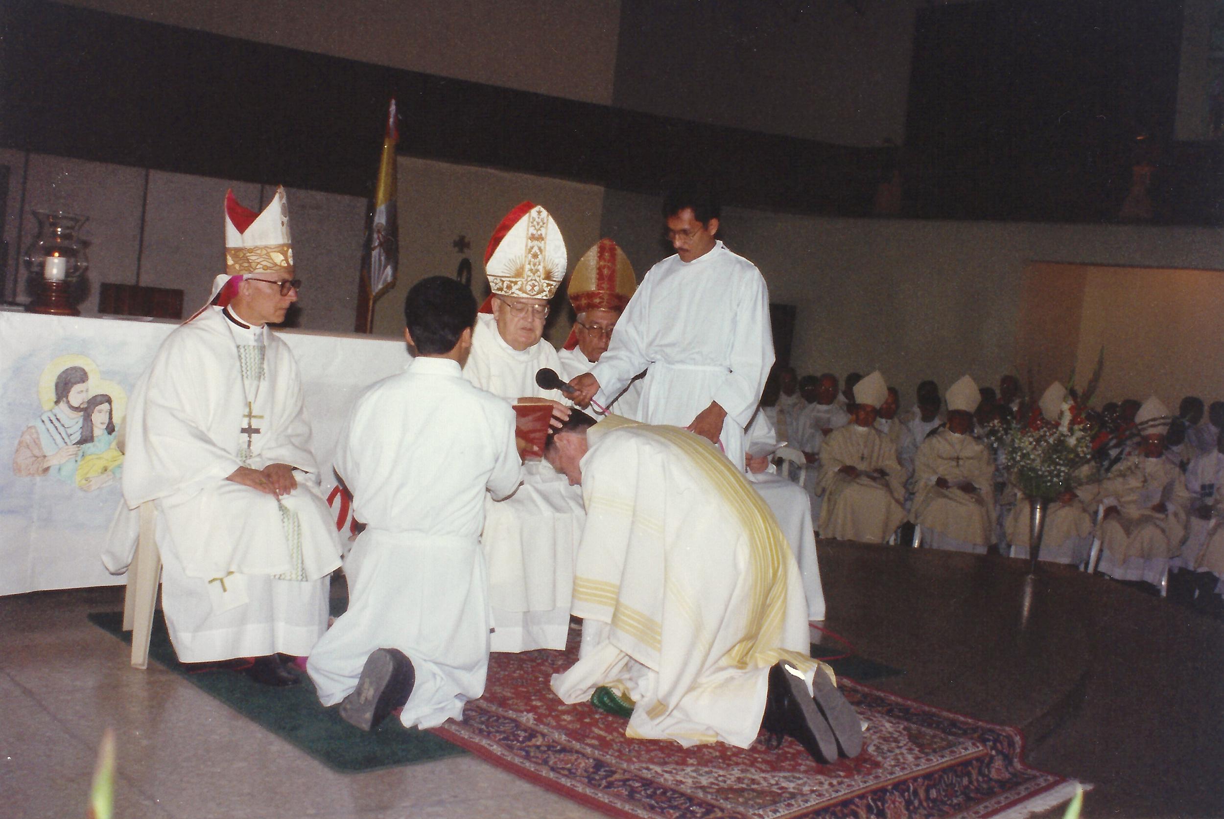 Bishop John McNabb, O.S.A., ordains Dan Turley, O.S.A., to the Episcopate