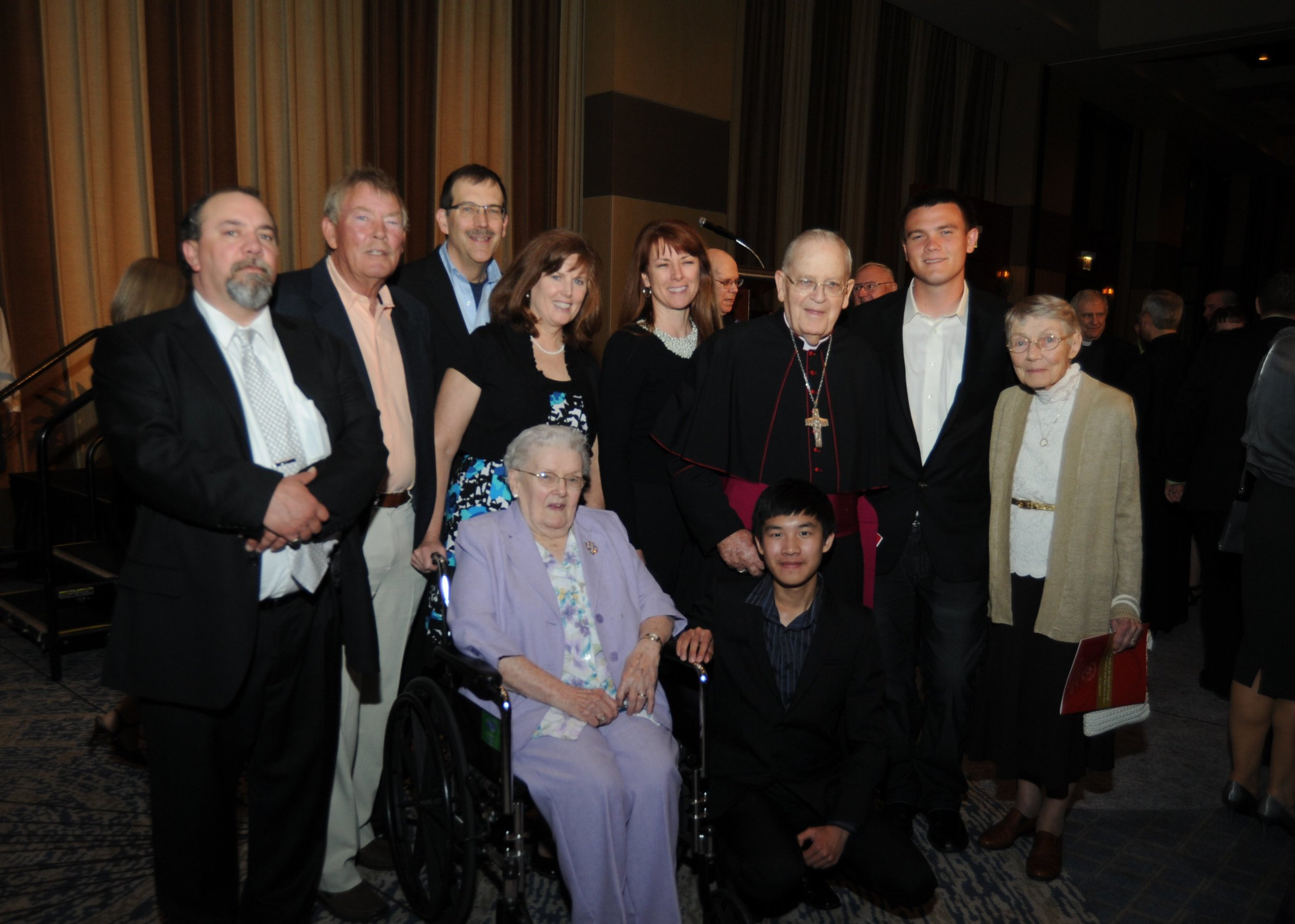 Bishop McNabb with his family and friends at the 2013 Augustinian Gala