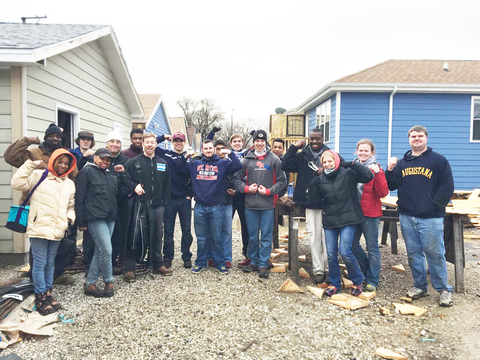 Nine Ritamen volunteered with Habitat for Humanity Chicago on Holy Thursday