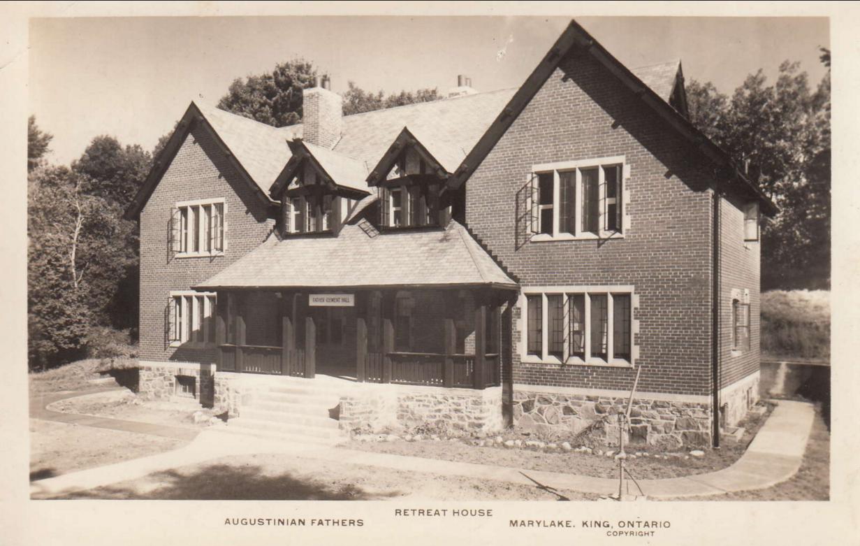 """Retreat House: Augustinian Fathers, Marylake, King, Ontario (Copyright)"""