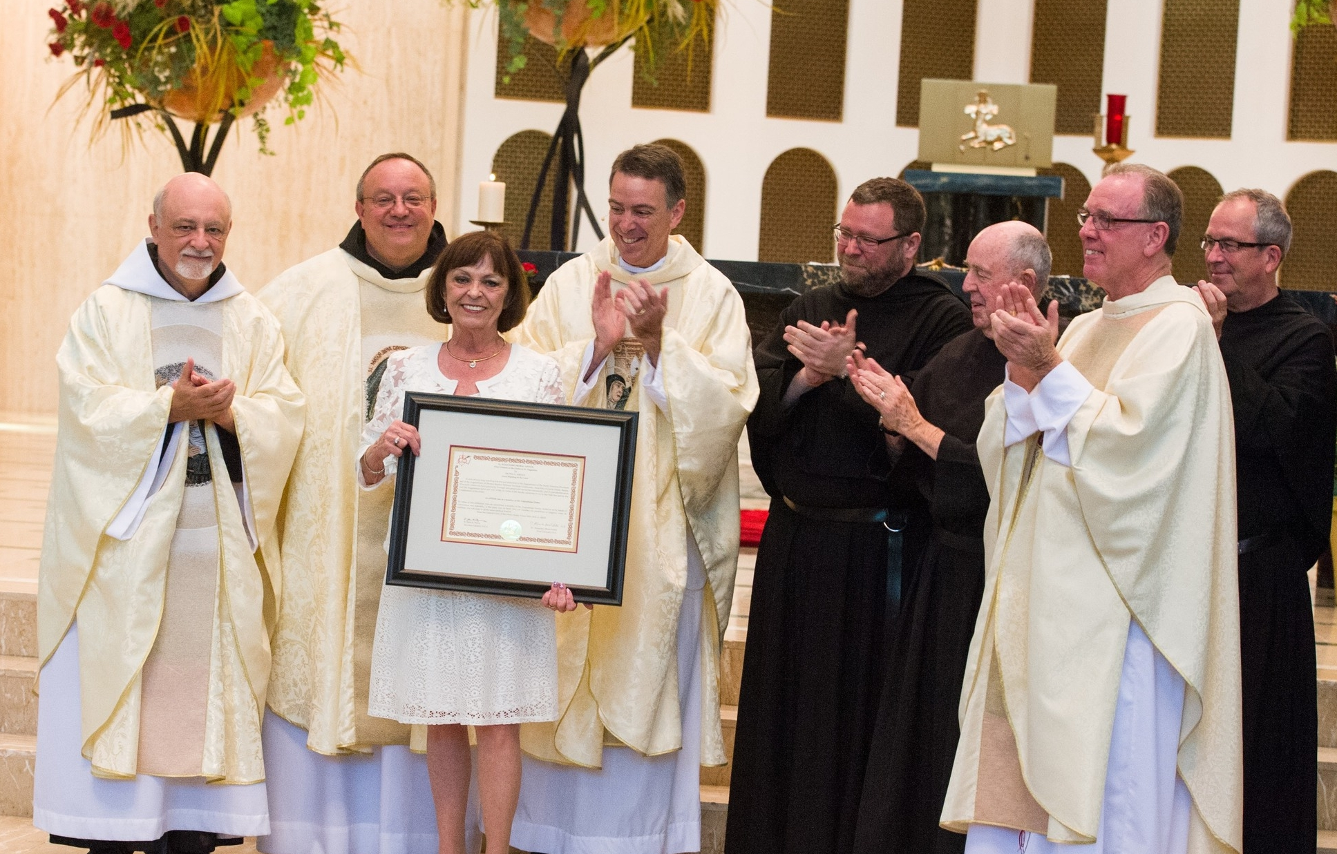 """The Augustinians also honored Olivia """"Libby"""" Aiello-Stublaski by affiliating her to the Order"""