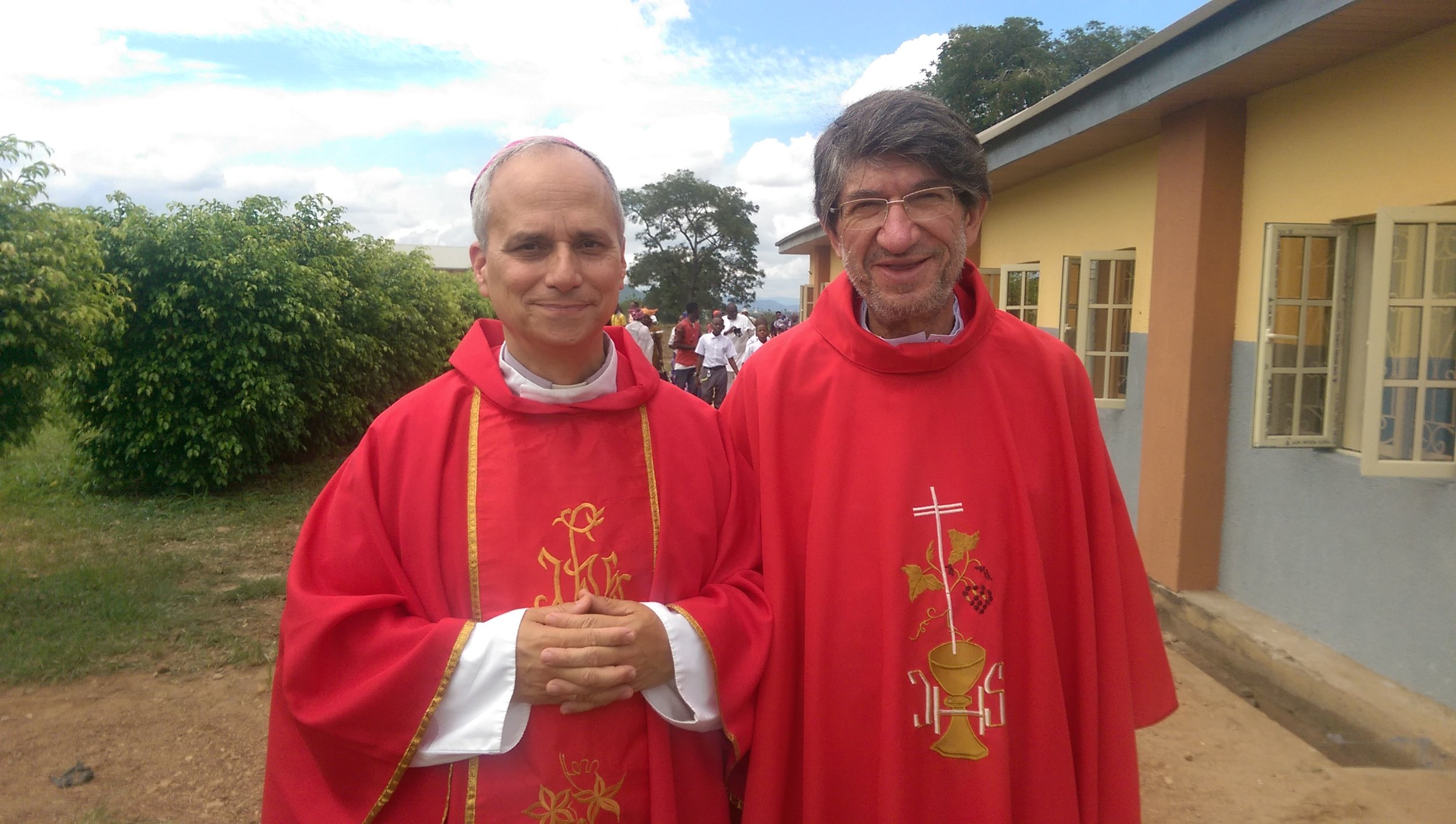 Bishop Robert Prevost, O.S.A., of Chiclayo, Peru; and the Most Reverend Alejandro Moral Antón, O.S.A., Prior General of the Augustinian Order