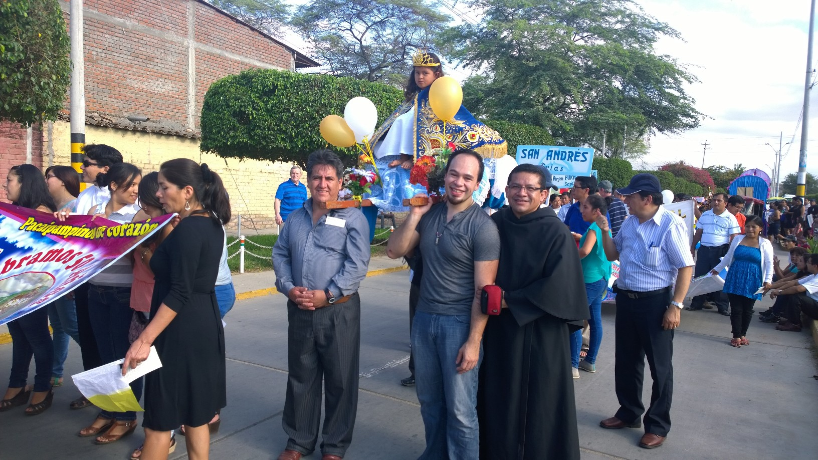 Patrick Murphy during his visit to the Midwest Augustinian missions in Chulucanas, Peru