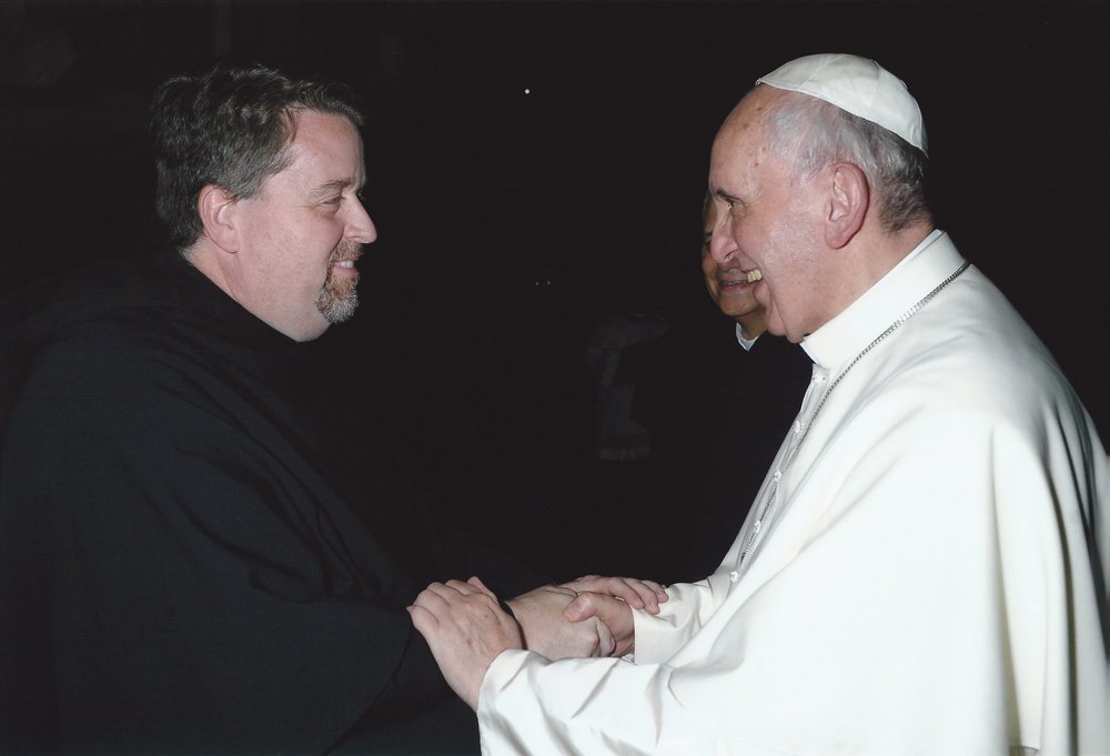 Fr. Tom McCarthy meeting Pope Francis in 2013