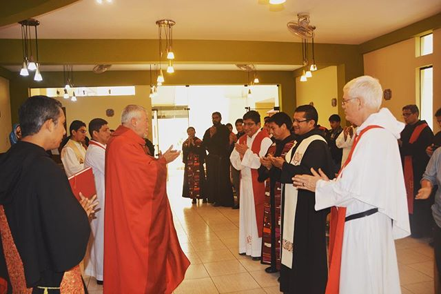 Fr. Anthony Pizzo, OSA addresses the Provincial Council of the Augustinian Vicariate of Chulucanas, Peru at their Chapter held this September. #augustinian #religion #priest #catholic #peru #missions