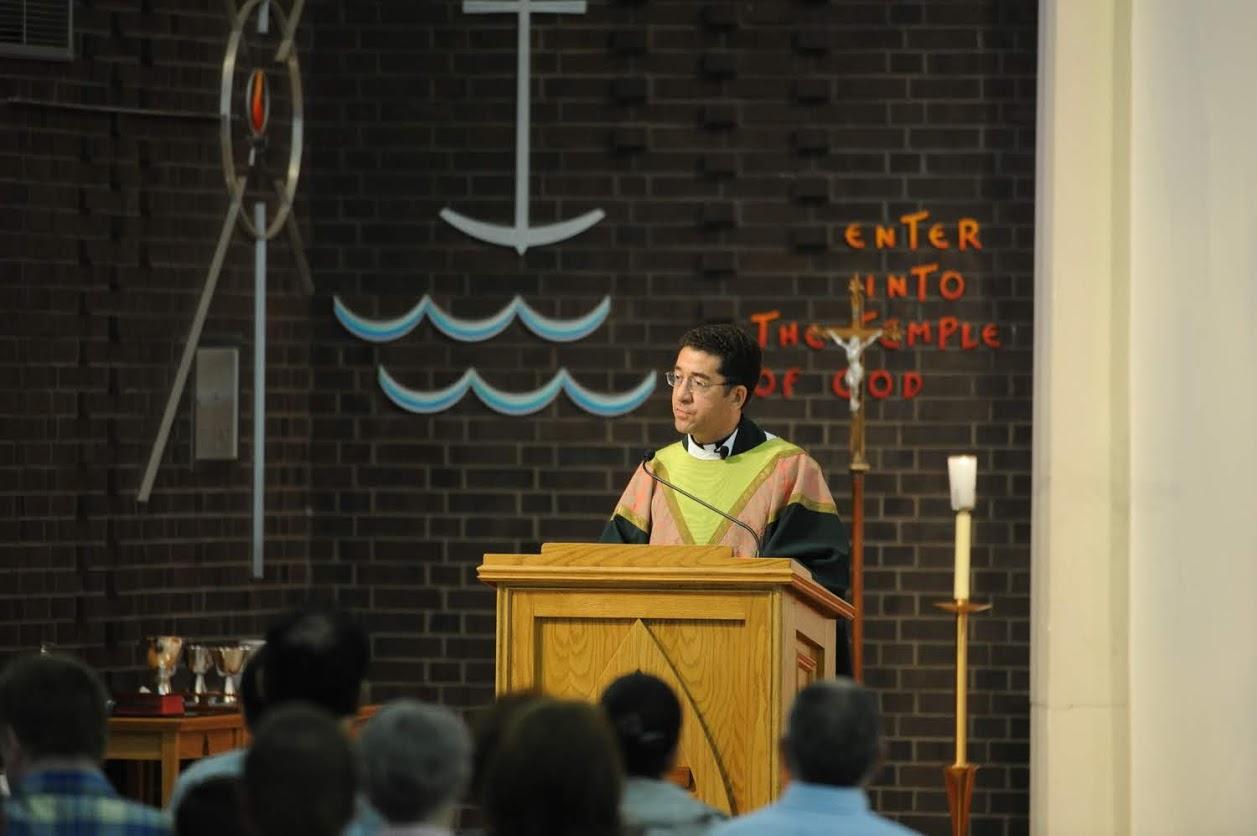 Rev. robert basler, osa's first mass 2013