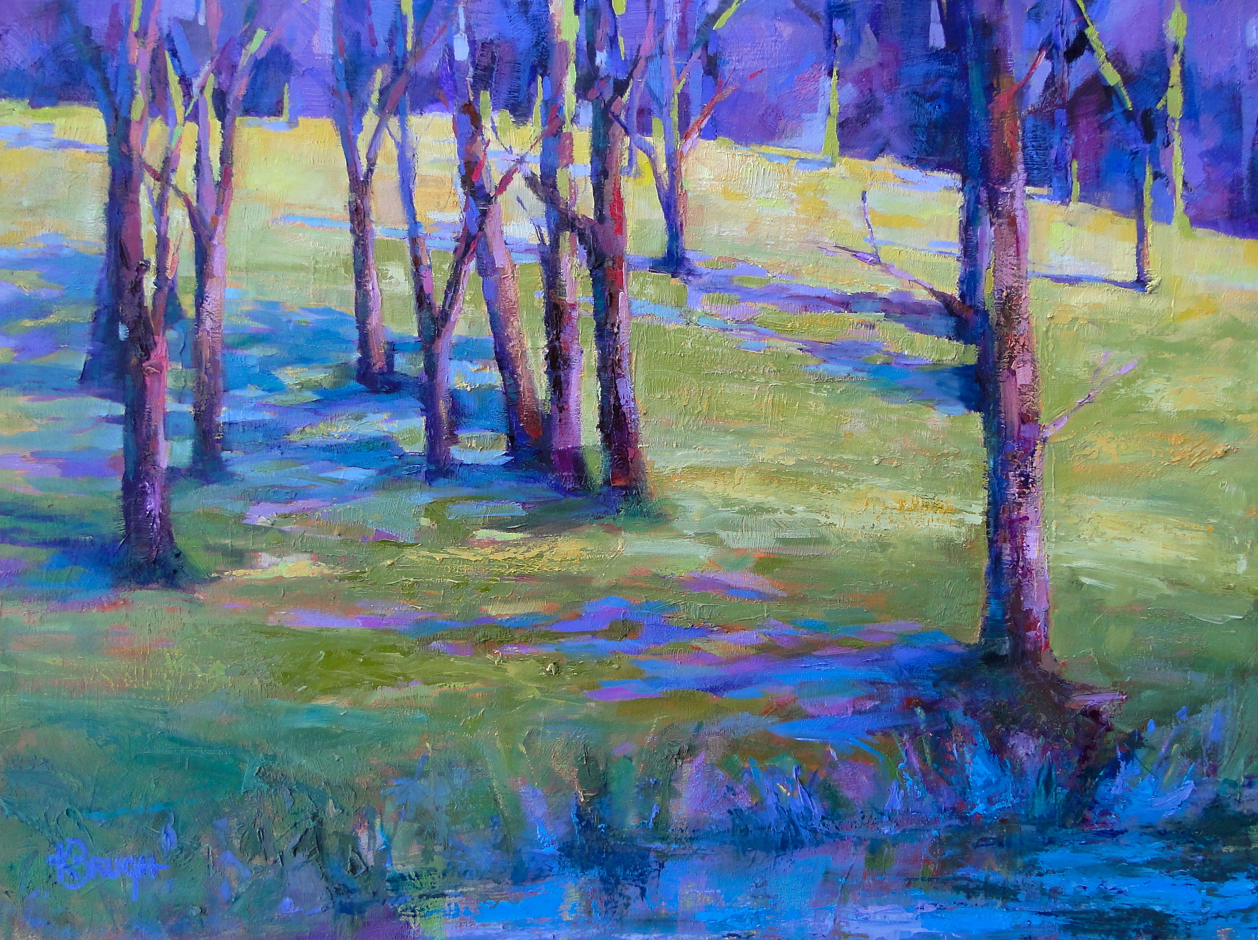 Tranquil Forest  30x40, Oil on canvas