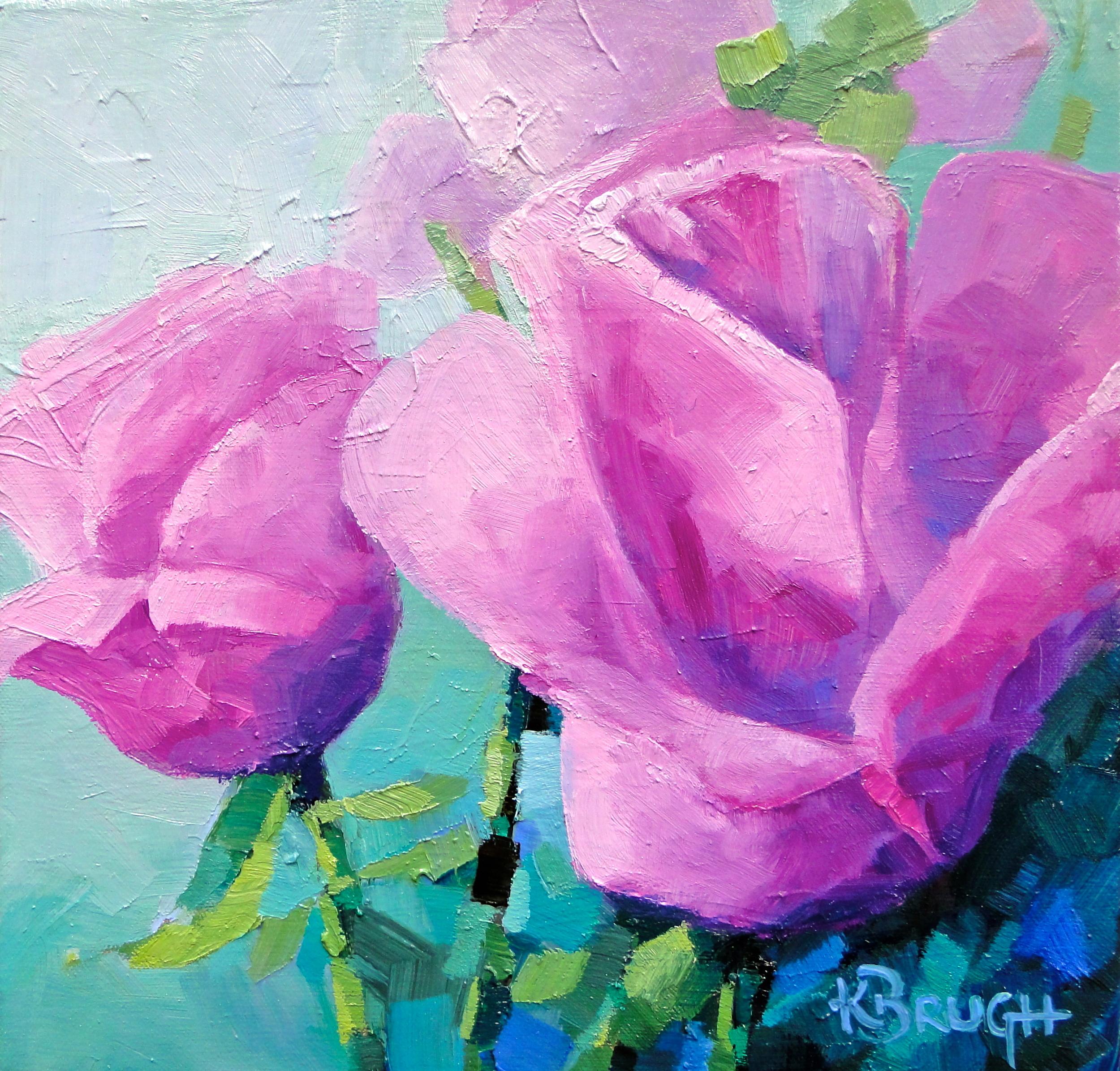 Garden Delights  by Kelley Brugh 12x12, Oil on canvas